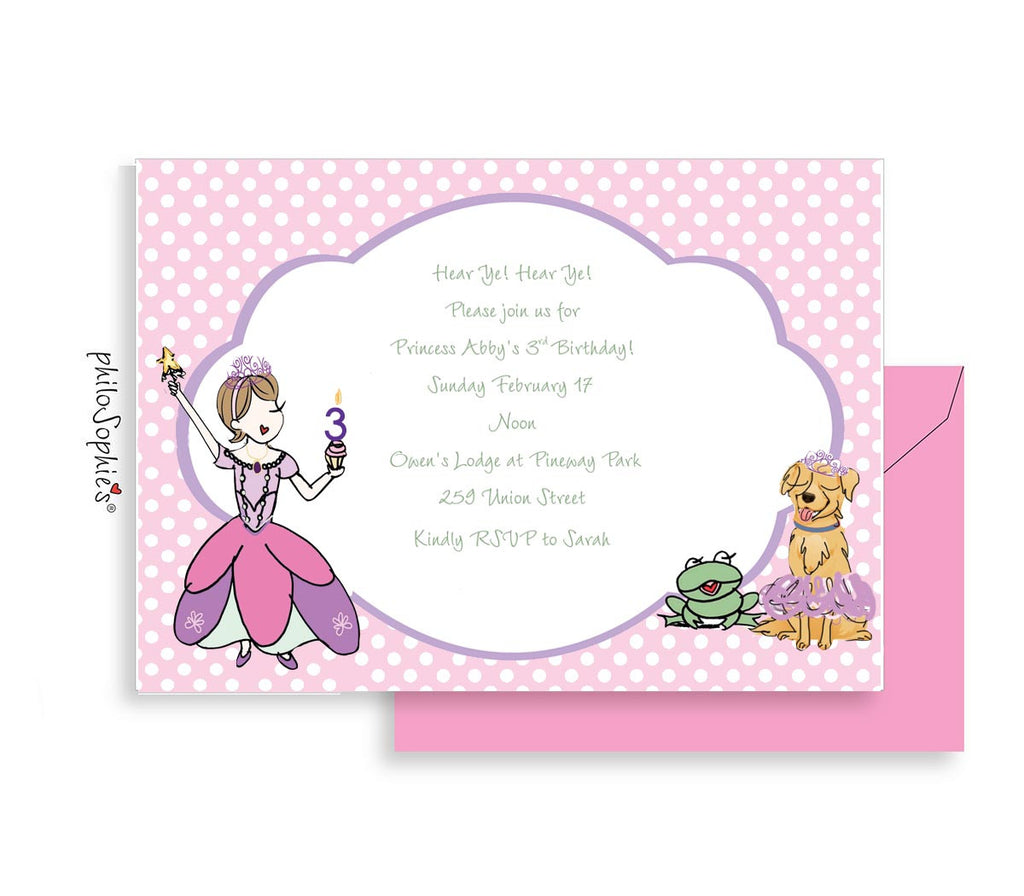 Birthday Invitation - Princess - philoSophie's®