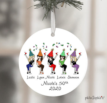 Birthday Celebration Ornament - Friendship Ornament personalized philosophie's