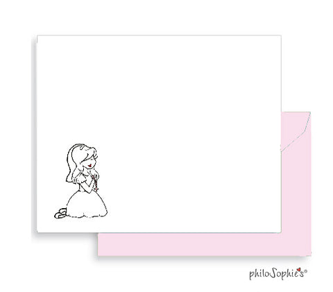 First Communion Blank Thank You Notes