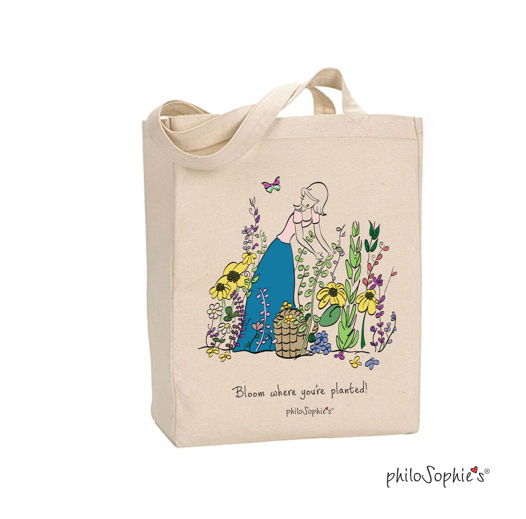 Bloom Tote - philoSophie's Canvas Tote Bag - philoSophie's®