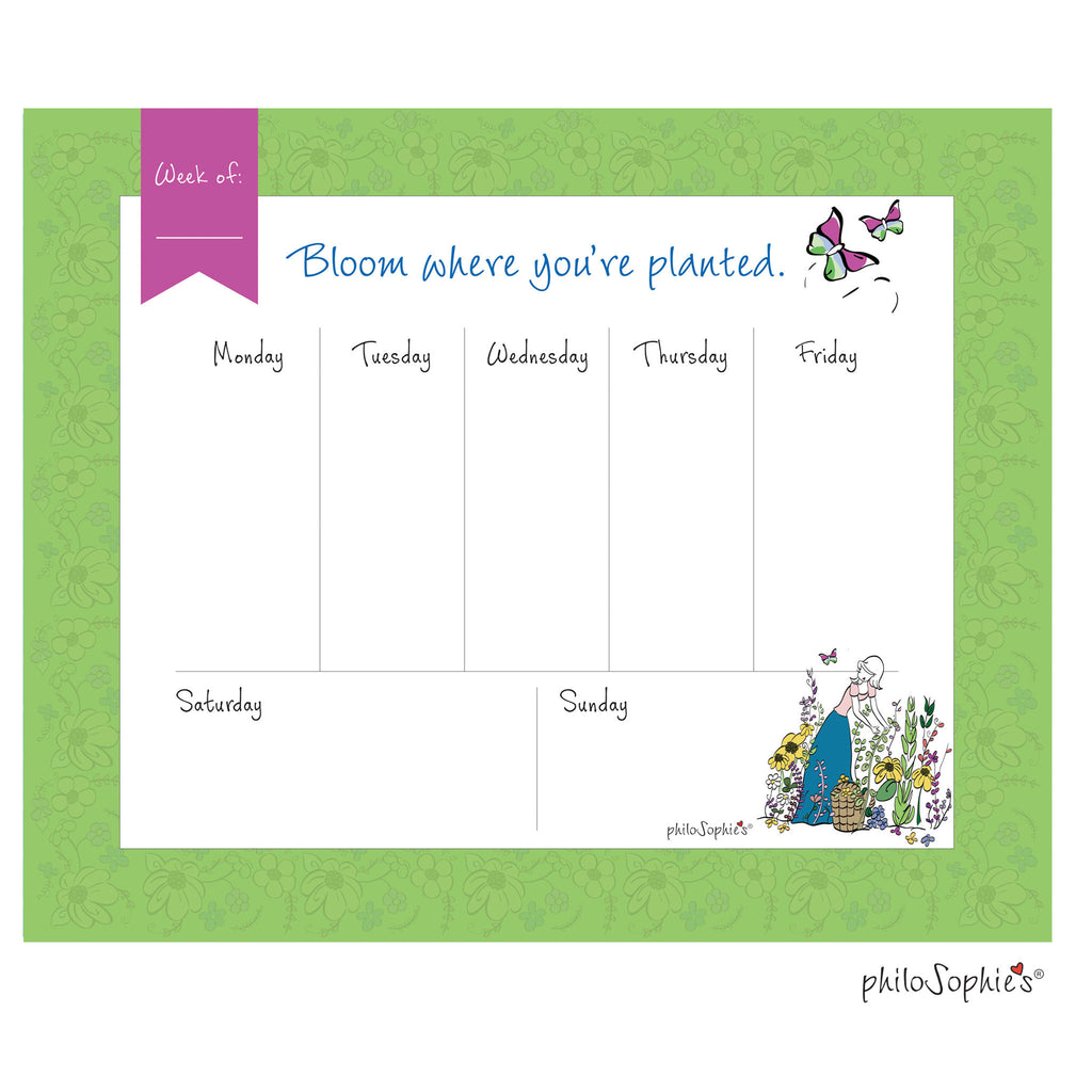 Bloom Weekly Desk Pad