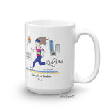 Boston  Mug - Strength in Numbers 26.2 Marathon/Cityscape- personalized mug
