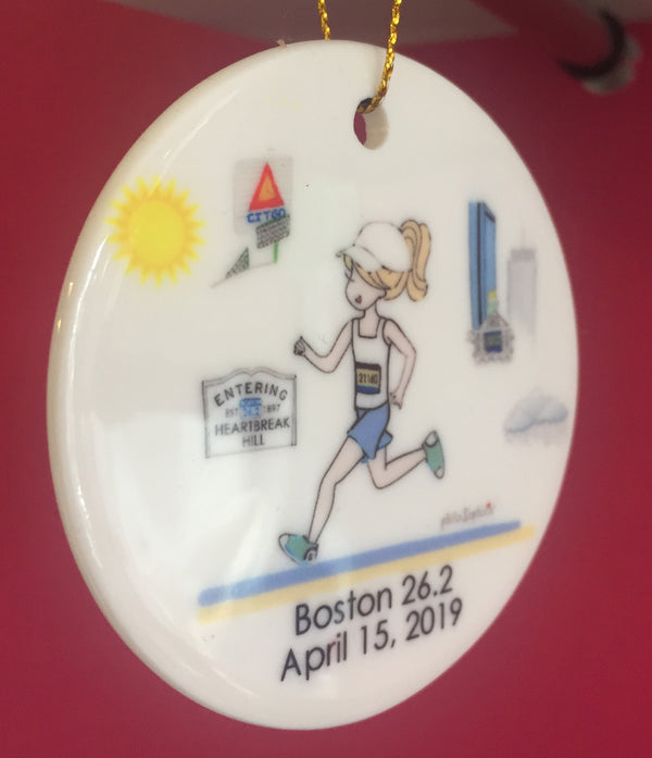 B2B - Boston to Big Sur 26.2 Ornament, Marathon, personalized Runner/Marathon