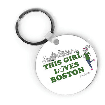 Boston Girl Keychain