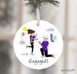 Boston Engagement Ornament - Marathon  Wine Tag/Ornament
