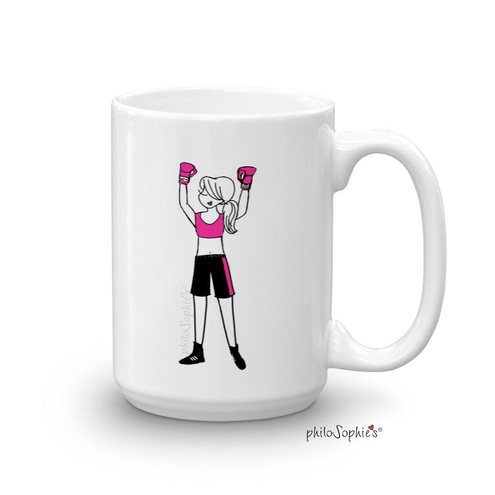 Fighter/Boxer Mug 15 ounce Ceramic Mug - philoSophie's®