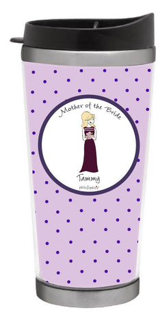 Bridal Party - Personalized Bridesmaid Dress Coffee Tumbler - philoSophie's®