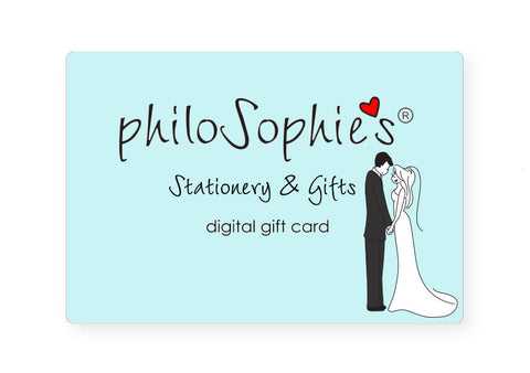 Wedding philoSophie's Digital Gift Card