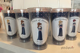 Bridal Party - Personalized Bridesmaid Dress Water Tumbler