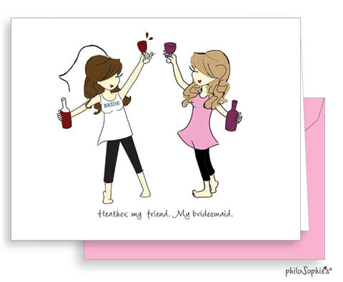 Will you be my bridesmaid? Greeting Card Toasting