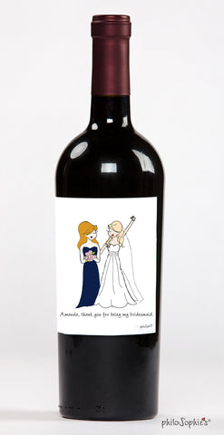 The Big Day Wine Bridesmaid Label - philoSophie's®