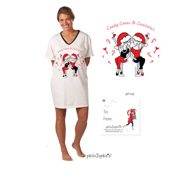 Candy Canes & Cocktails Nightshirt