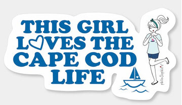 This Girl Loves Cape Cod Vinyl Sticker