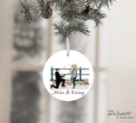 Castle Island Engagement Wine Tag/ Ornament