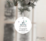 Romantic Castle Personalized Engagement Wine Bottle Tag / Tree Ornament