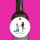 Silo Engagement Ornament - Wine Tag/Ornament
