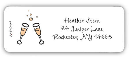 Champagne Toast - Return Address Labels - philoSophie's®