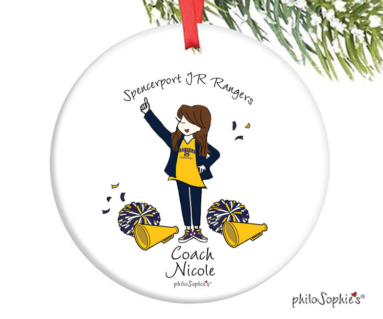 Cheer Coach Team Ornament - personalized philoSophie's - philoSophie's®