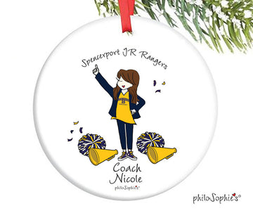 Cheer Coach Team Ornament - personalized philoSophie's