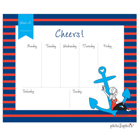 Anchor Weekly Desk Pad - philoSophie's®