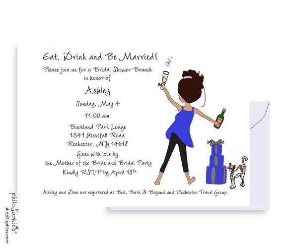 Personalized Bridal Shower Eat Drink & Be Married