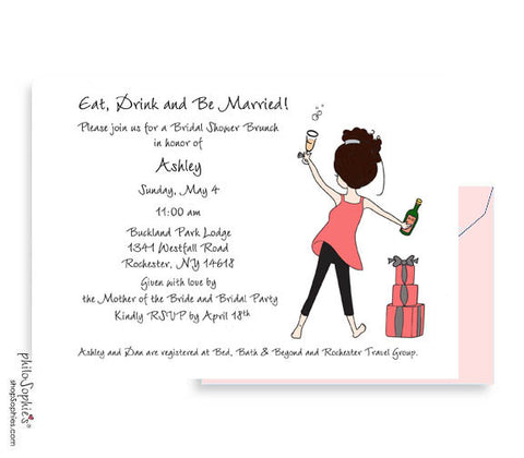 Personalized Bridal Shower - Eat. Drink & Be Married!