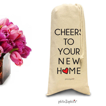Cheers to your new home - wine &spirits tote