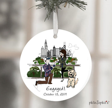 Engagement Personalized Wine Bottle Tag / Ornament