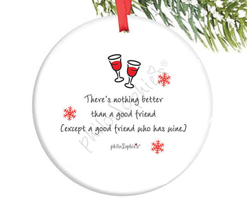 Best Friends with Best Fur Friends Personalized Ornament