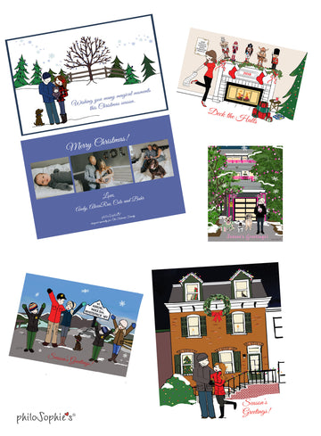 Flat Custom Holiday Card - 5 x 7 double sided Holiday Greeting Cards (Pricing for 25)