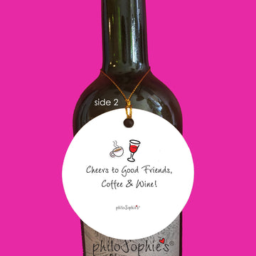 Cheers to Good Friends, Coffee & Wine  - Friendship Ornament personalized philosophie's