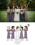 Custom Bridal Party Illustration - Personalized Ceramic Mugs - philoSophie's®