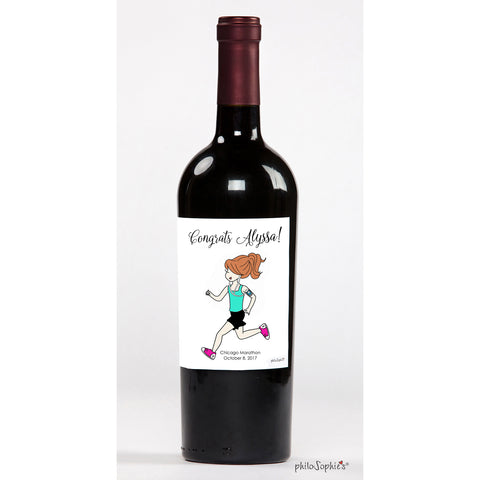 Congrats Runner! - Personalized Wine Label