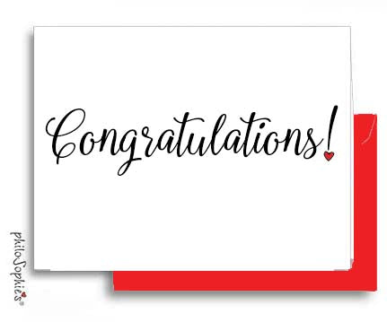 Congratulations Greeting Card - philoSophie's®