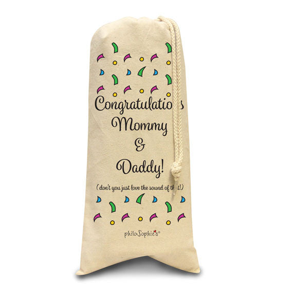 Congratulations Mommy & Daddy/Wine & Spirits Tote - philoSophie's®
