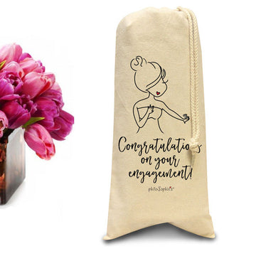 Congratulations on your engagement tote/Wine & Spirits Tote