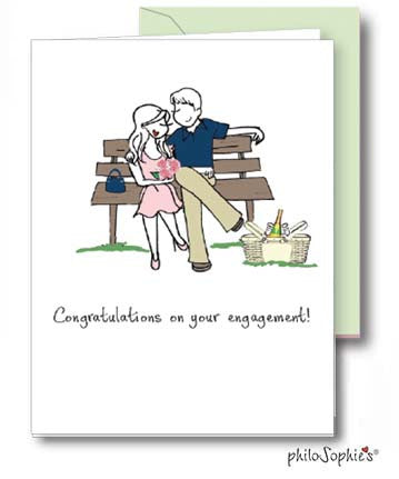 Congratulations on your engagement - Engagement Greeting Card - philoSophie's®