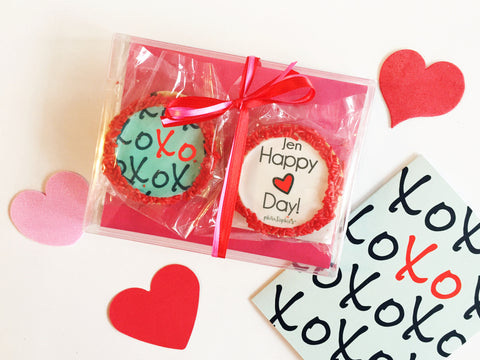 XOXO Valentine - Personalized Cookies and Card