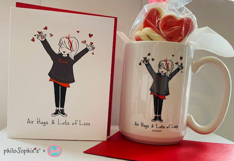 Air Hugs & Lots of Love - Thinking of You Mug with Cookies Gift Set