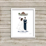 """Our Wedding Day"" Custom philoSophie❤️s® with Venue Illustration"