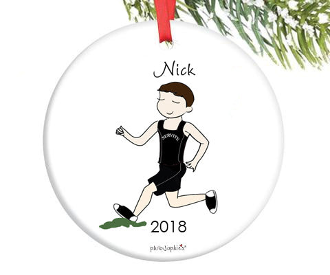 Cross Country Male  Runner Ornament - personalized philoSophie's - philoSophie's®
