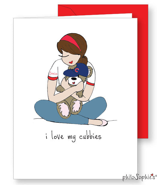 I love my cubbies! personalized folded notes - philoSophie's®