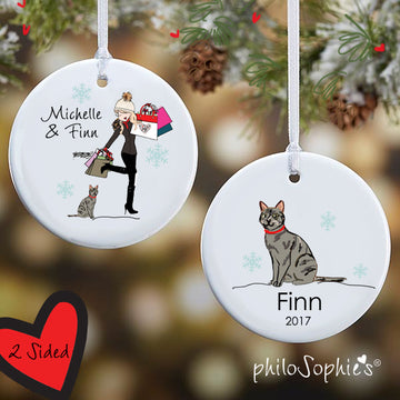 Winter Scene Sidekick Personalized Ornament