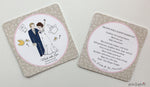Unique Wedding Coasters -  Custom Portrait - philoSophie's®