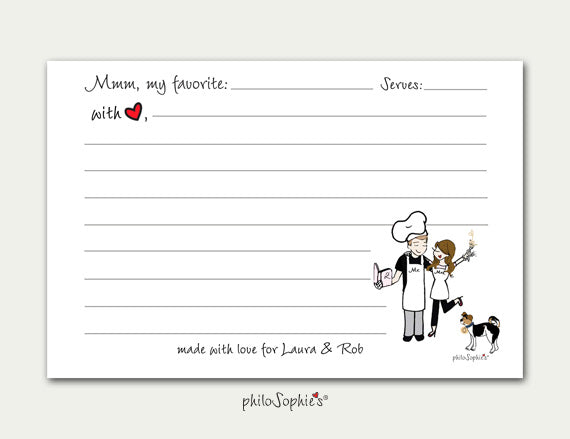 Personalized Recipe Cards - philoSophie's®