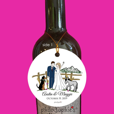 Truly Custom Wedding Wine Tag/Ornament