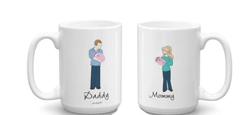New Mommy & Daddy Mugs