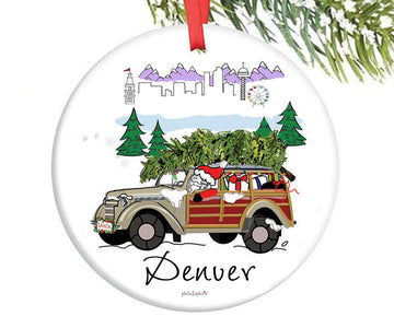 Santa in the City - Denver Ornament