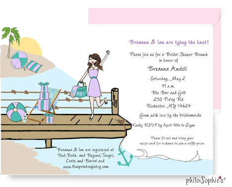 Personalized Bridal Shower - Wedding Dock - philoSophie's®