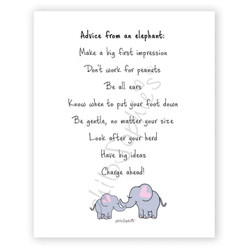Advice from an elephant - philoSophie's Wall Art